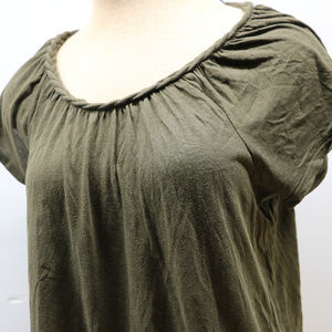 Gap Olive Green Short Sleeve Braided Neck Woman's